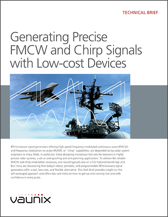 Generating Precise FMCW and Chirp Radar Test Signals with Low-cost Devices