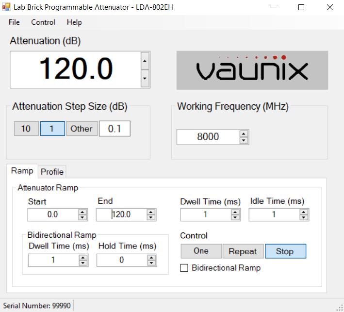 LDA-802EH 프로그래밍 가능 디지털 감쇠기 GUI