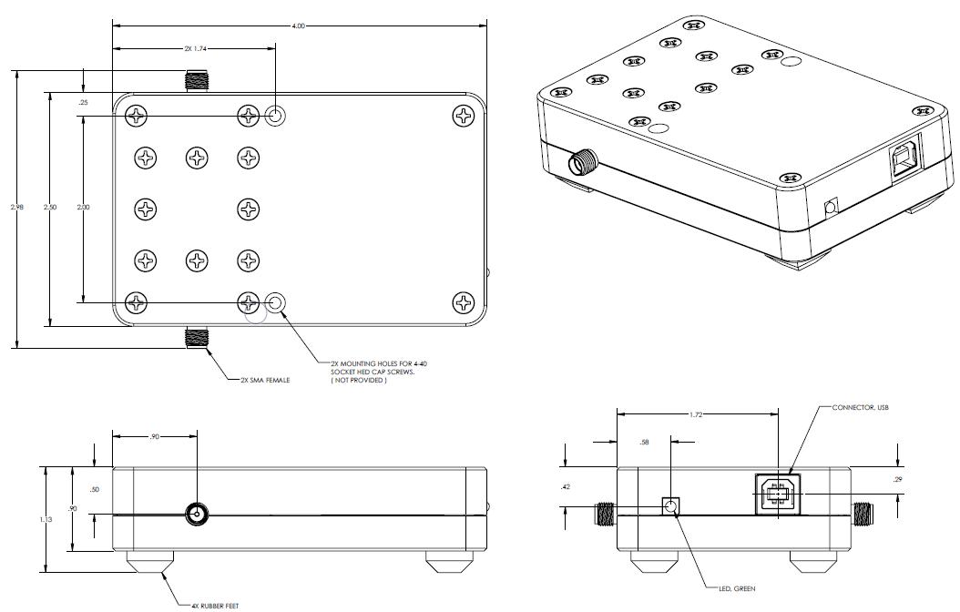 LDA-802EH 프로그래밍 가능 디지털 감쇠기 Mechnical