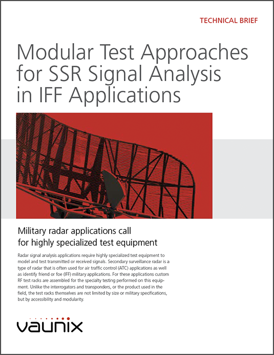 Tech Brief Describes Modular Test Approaches for SSR Signal Analysis in IFF Applications